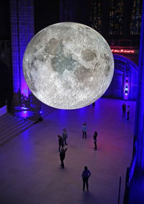 Museum of the Moon by Luke Jerram at Liverpool Anglican Cathedral. Images by Gareth Jones