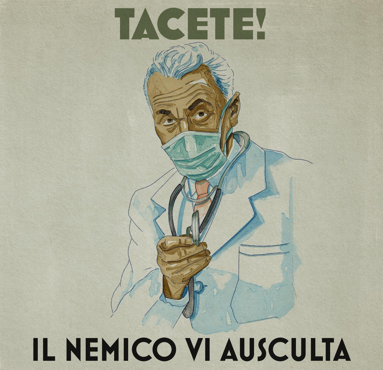 Andrea Bozzo, ancora una vignetta che irride l'idea di una dittatura sanitaria