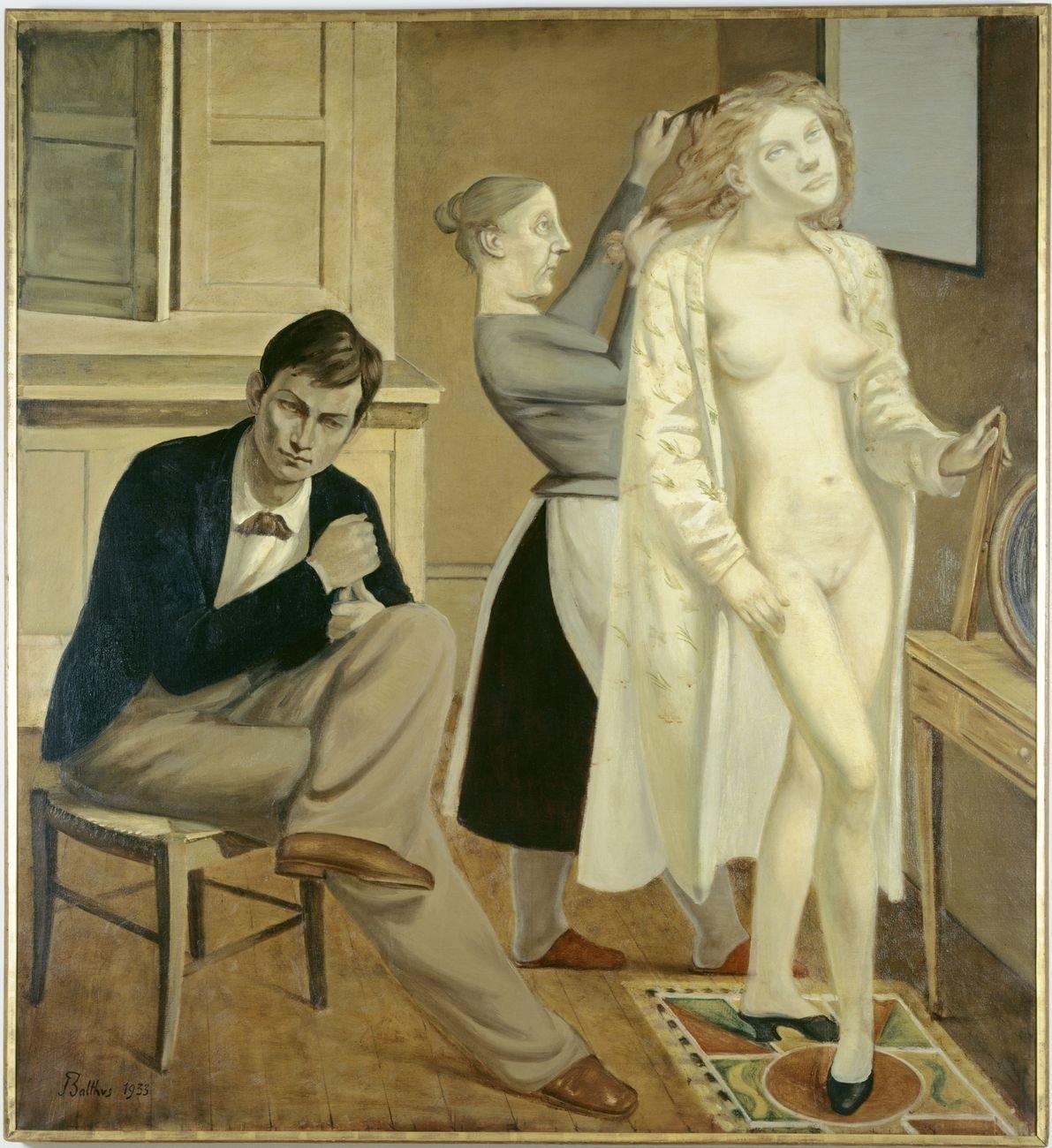 Balthus, La Toilette de Cathy, 1933, olio su tela, cm 165 x 150. Centre Pompidou, Parigi © Balthus. Photo © Jean-Claude Planchet