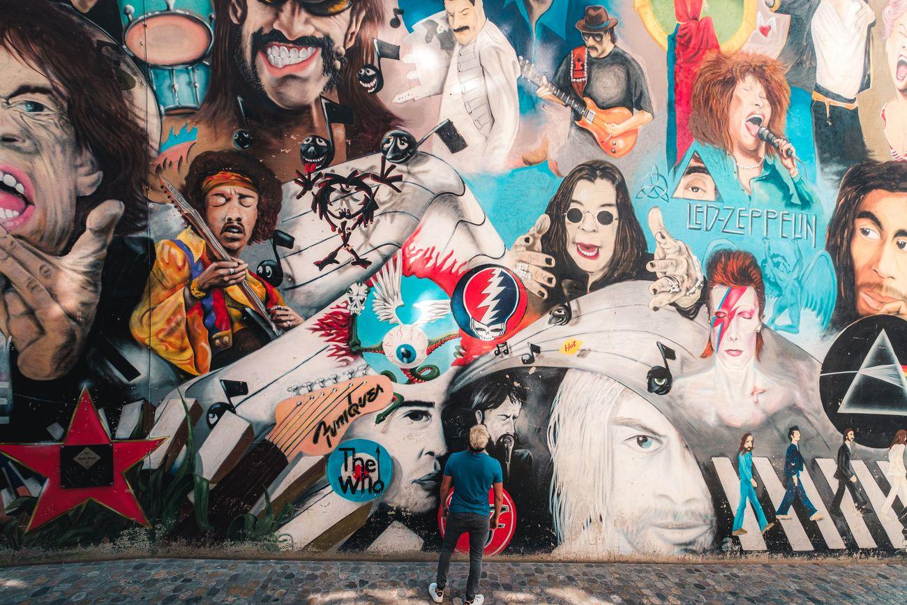 Basilea. Murales a Gerbergässlein