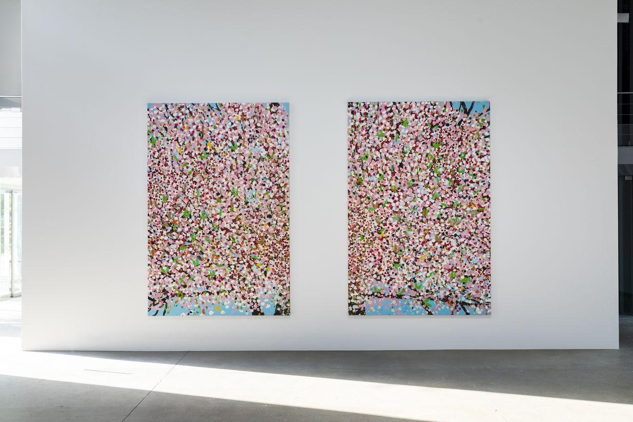 Damien Hirst. Cerisiers en fleurs. Exhibition view at Fondation Cartier pour l'art contemporain, Parigi 2021. Photo © Thibaut Voisin