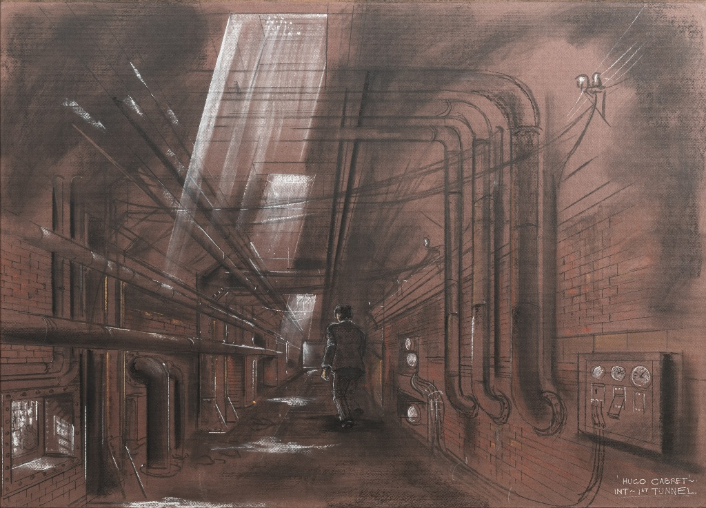 Dante Ferretti, Into the tunnel. Hugo Cabret, 2012. Courtesy Archivio Dante Ferretti