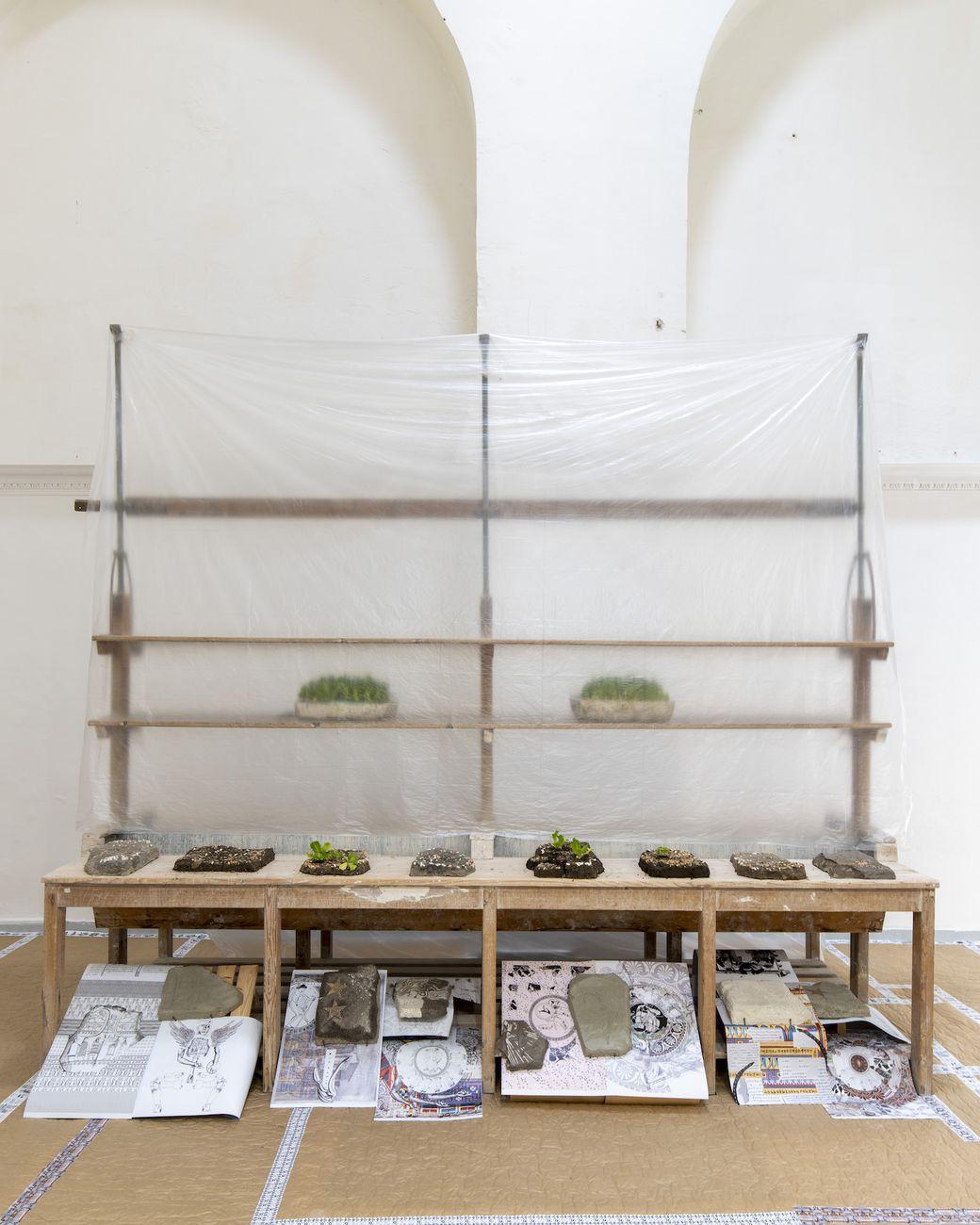 Diego Cibelli. Gates. Exhibition view at Real Fabbrica di Capodimonte, Napoli 2021. Photo Amedeo Benestante. Courtesy Museo e Real Bosco di Capodimonte, Napoli
