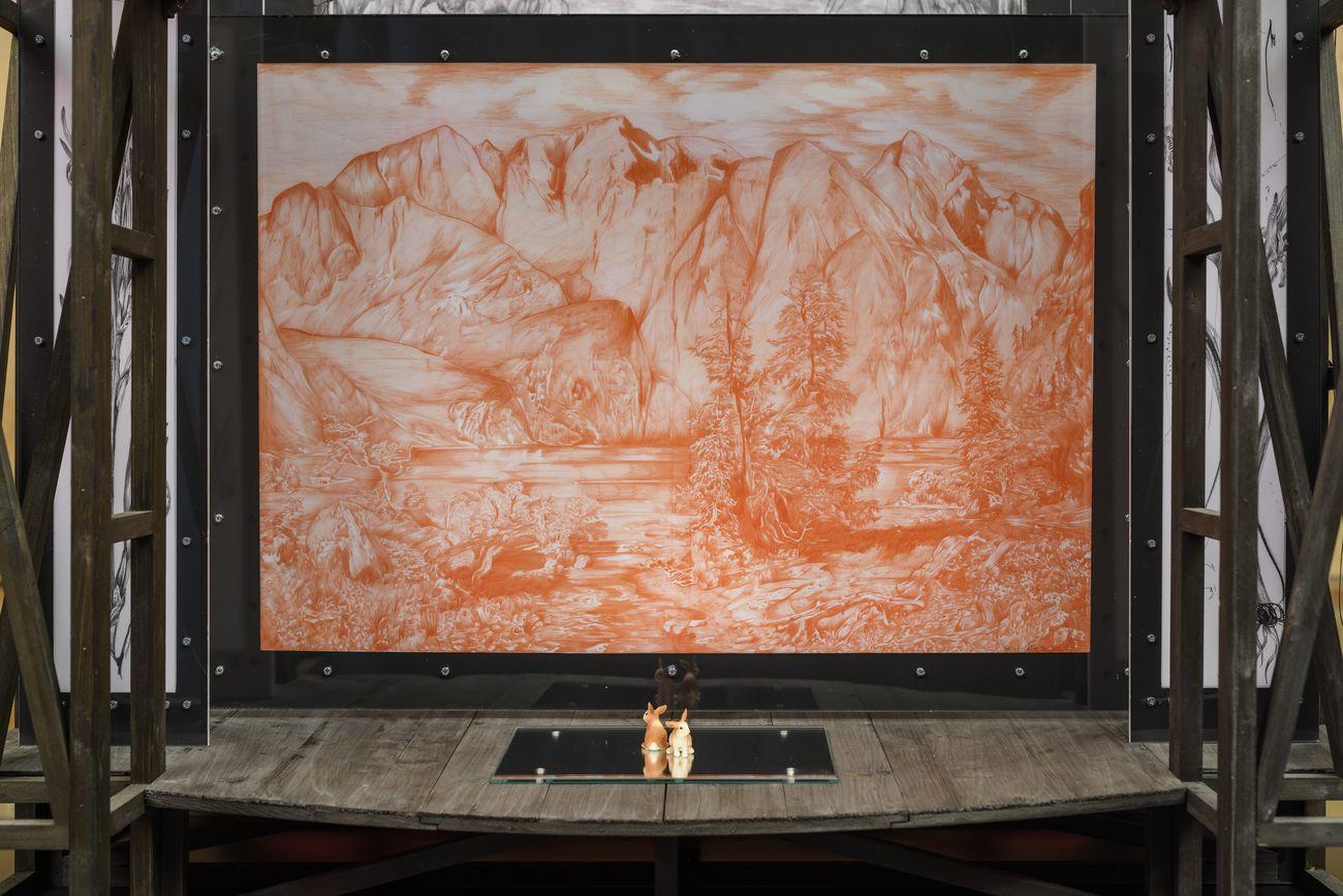 Fabrizio Cotognini. The Flying Dutchman. Exhibition view at Musei Civici di Palazzo Buonaccorsi, Macerata 2021. Photo Giorgio Benni