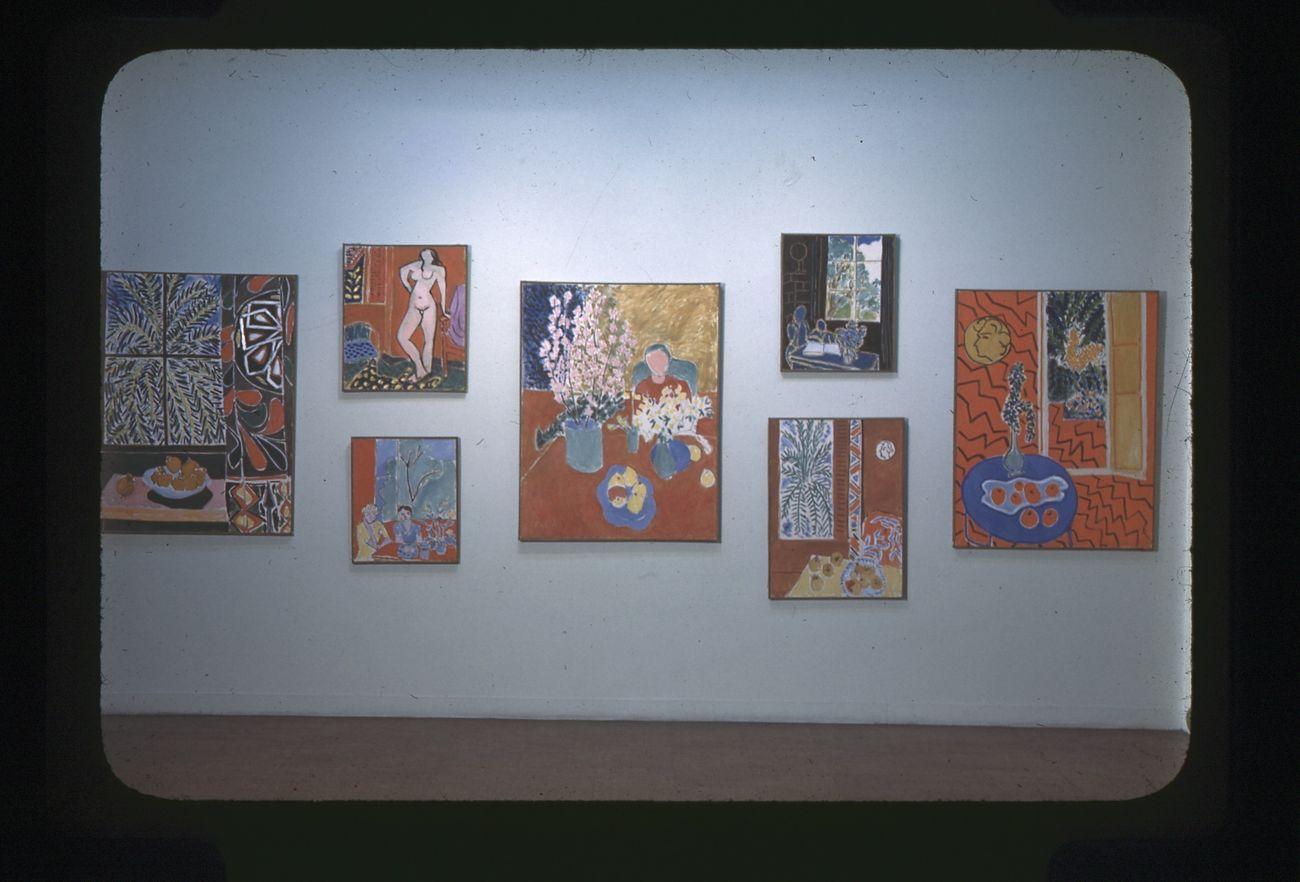 Henri Matisse. Paintings, Papiers Découpés, Drawings, 1945 1948. Exhibition view, 1949. Collezione privata © Archives Henri Matisse D.R.