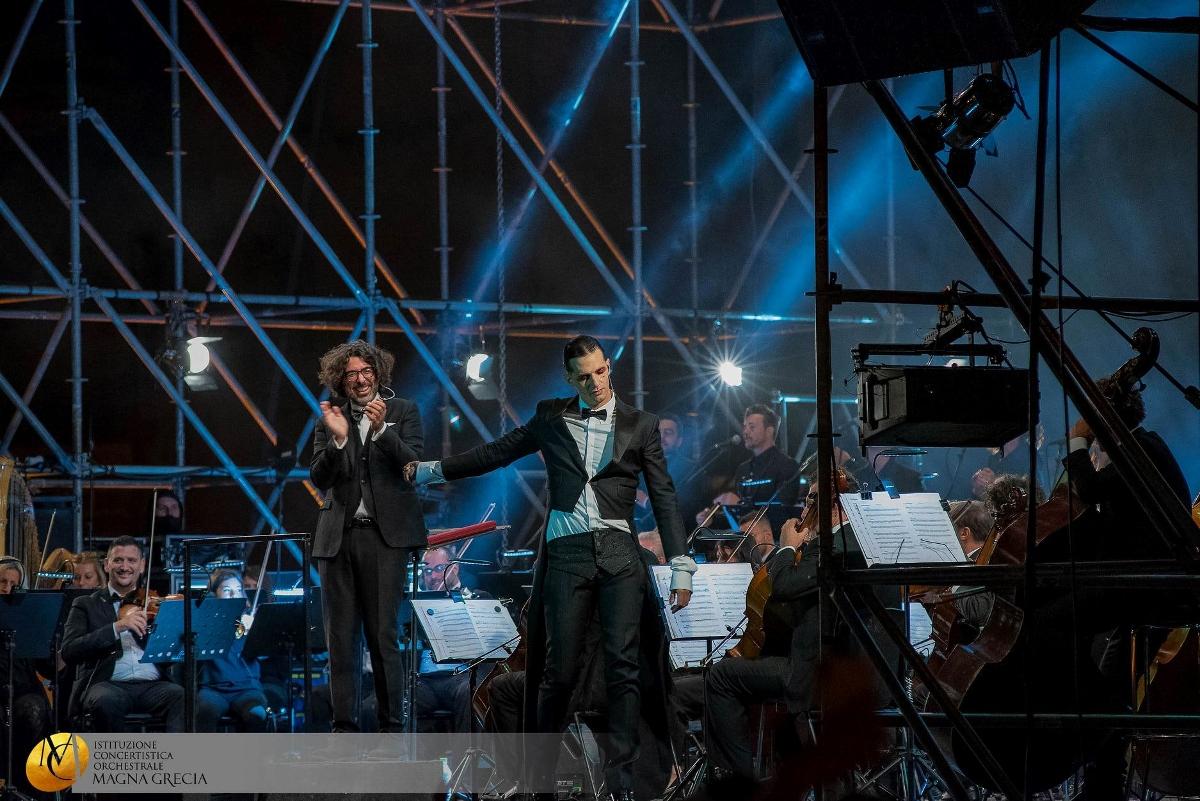 Il Maestro Piero Romano e Achille Lauro