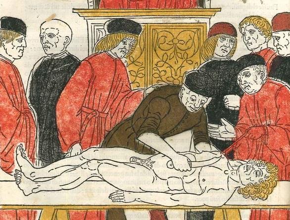 Johannes de Ketham, Fasciculus Medicinae, Venezia, Giovanni e Gregorio de' Gregori, 1494, II ediz. Courtesy Fondazione Querini Stampalia, Venezia, dettaglio