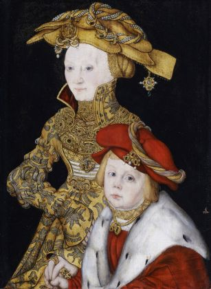 Lucas Cranach the Elder (1472-1553) and Workshop, Portrait of a Lady and her Son c. 1510-40, Royal Collection Trust / © Her Majesty Queen Elizabeth II 2021