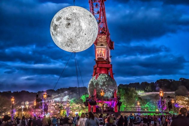 Museum of the Moon by Luke Jerram at Glastonbury Festival, 2019. Photo by Lukonic Photography