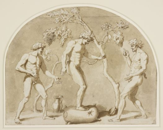 Nicolas Poussin, Satyrs Dancing on a Wineskin, about 1636 Royal Collection Trust © Her Majesty Queen Elizabeth II 2021