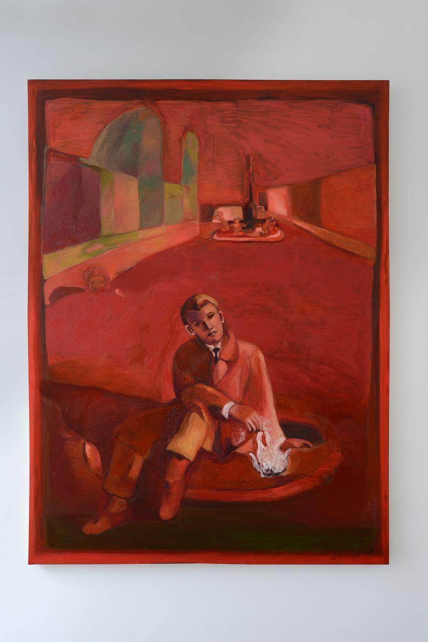 Paola Angelini, Io a Roma - Me in Rome, 2020, olio su tela, 265 x 200 cm. Photo credits Michele Alberto Sereni