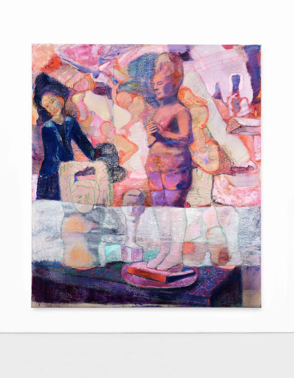 Paola Angelini, The room of the giants, 2020, tecnica mista su tela, 175 x 200 cm. Photo credits Michele Alberto Sereni