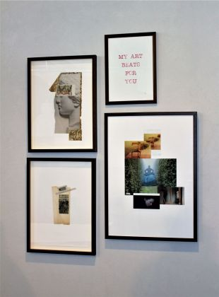 Paola Mancinelli, Collage mix, Installation view at Area Domus, Martina Franca 2021