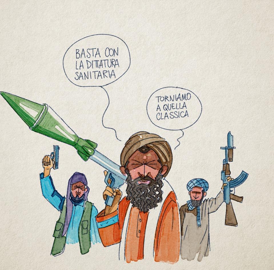 Una vignetta di Andrea Bozzo