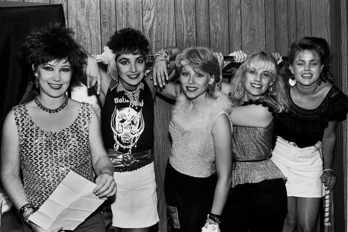 The Go Go's at Chicagofest in Chicago, Illinois, July 30, 1981 . (Photo by Paul Natkin/Getty Images)