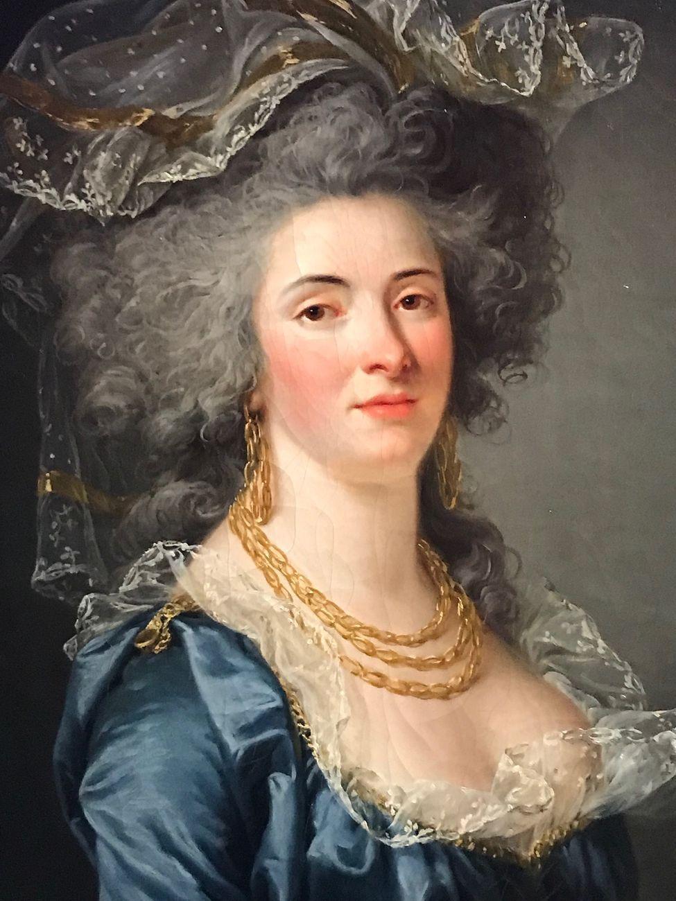 Adelaïde Labille Guiard, Portrait présumé de la Comtesse de Maussion, 1787, particolare. Musée Cognacq Jaÿ, Parigi