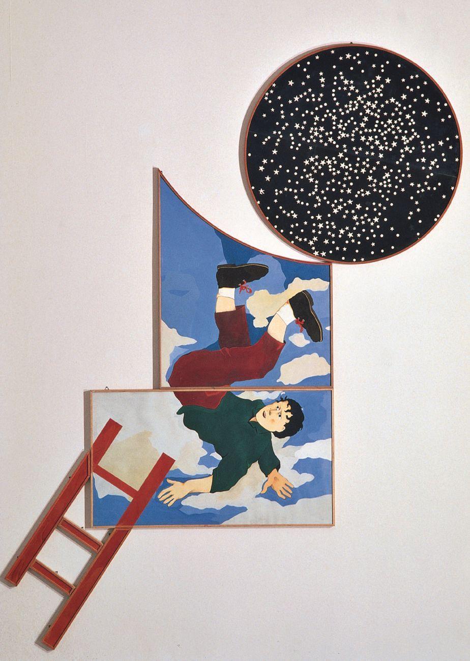 Aldo Spoldi, Le avventure di Gordon Pym, 1981, tecnica mista su carta incollata su tavola, 220 x 190 cm. Collezione Intesa Sanpaolo © Archivio Patrimonio Artistico Intesa Sanpaolo. Photo Paolo Vandrasch, Milano