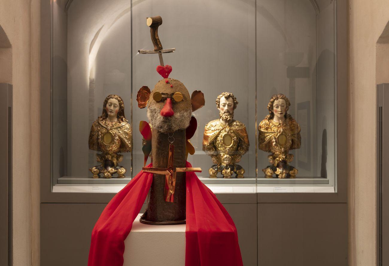 Alessandro Pessoli, Martire delle Farfalle, 2020. Installation view at Museo Diocesano Carlo Maria Martini (Oreficeria), Milano 2021. Photo Andrea Rossetti