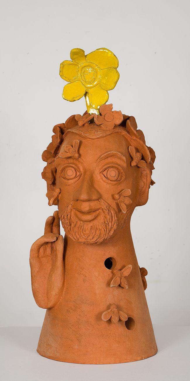 Alessandro Pessoli, Sant' Ambrogio fiorito, 2020. Courtesy l'artista