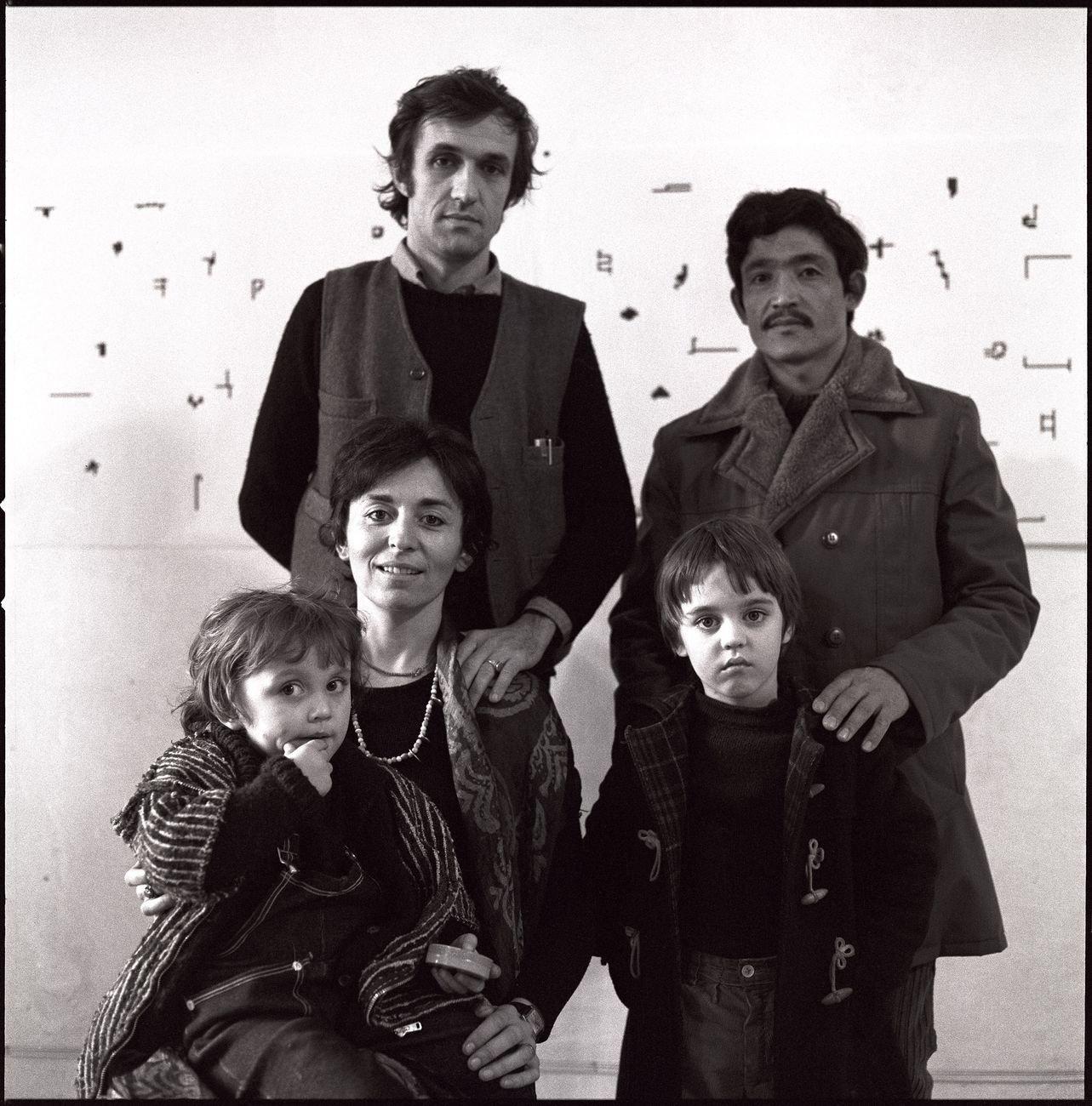 Alighiero Boetti, Annemarie Sauzeau Boetti, Agata Boetti, Matteo Boetti. Photo © Giorgio Colombo