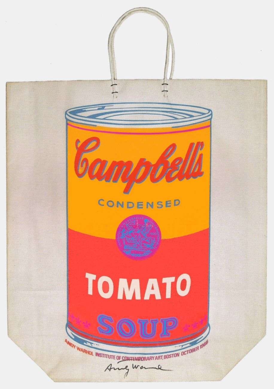 Andy Warhol, Campbell's Soup Can on Shopping Bag, 1966, serigrafia su carta
