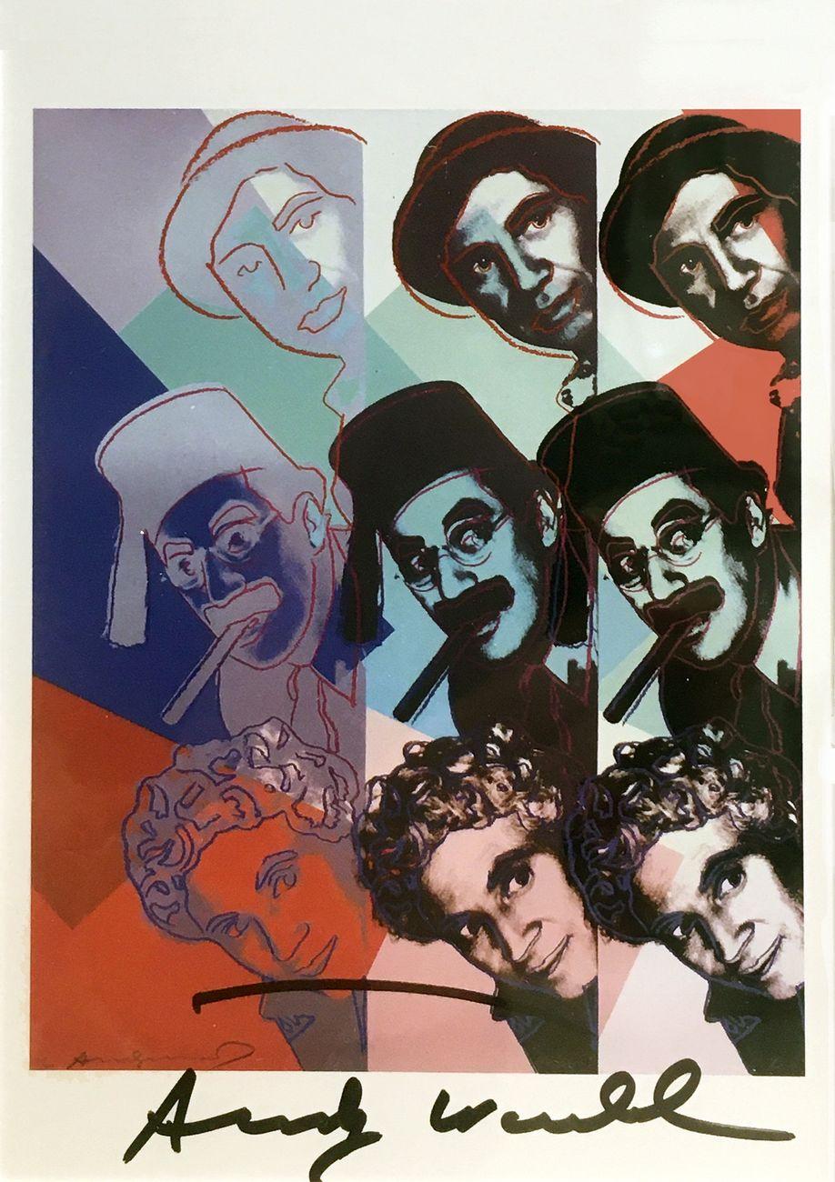 Andy Warhol, Fratelli Marx, 1986, serigrafia dal portfolio Portraits Jews in History