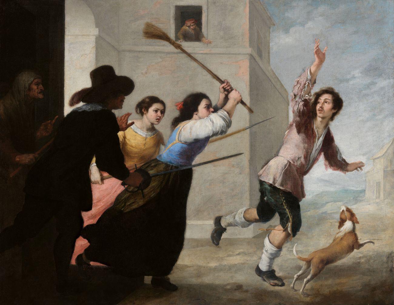 Bartolomé Esteban Murillo, El hijo pródigo expulsado por las cortesanas, 1660 65. Dublino, National Gallery of Ireland