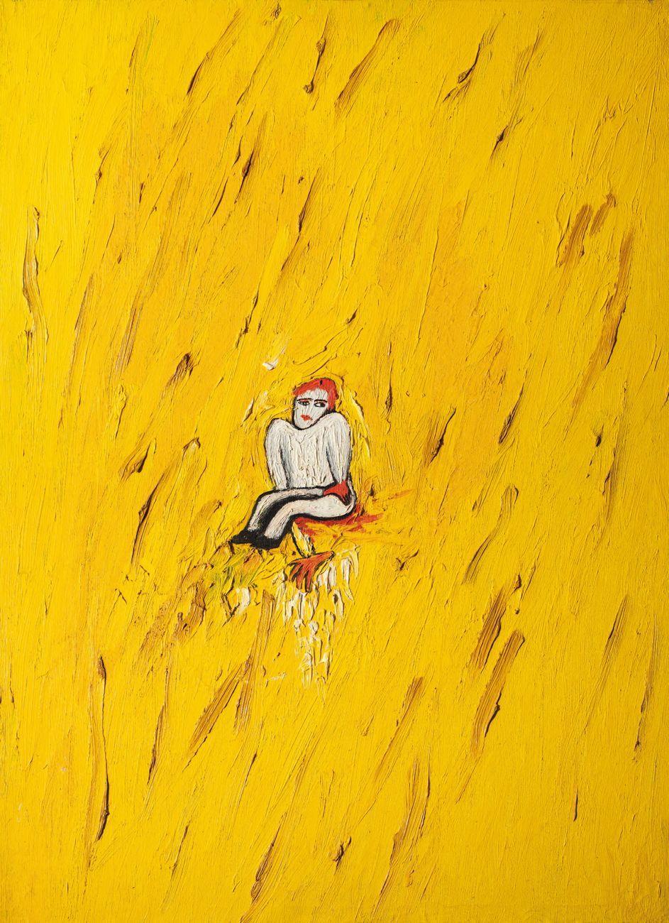Enzo Cucchi, Senza titolo (Piccolo personaggio marchigiano), 1979, olio su tela, 89,50 x 65 cm. Collezione D'Ercole, Roma © Gaia Schiavinotto