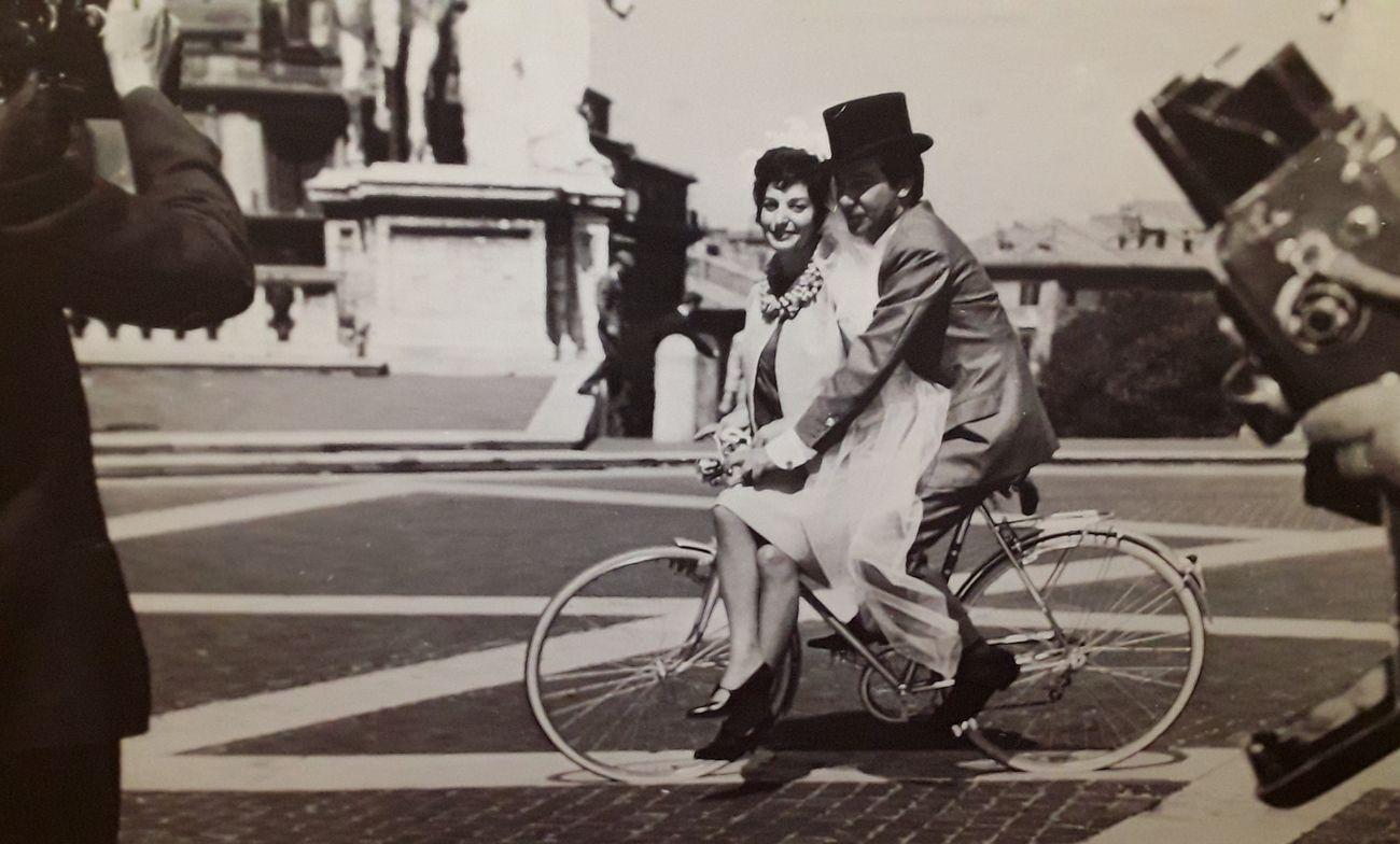 Eva Fischer e Alberto Baumann nel giorno del matrimonio. Photo ABEF Archivio Baumann e Fischer