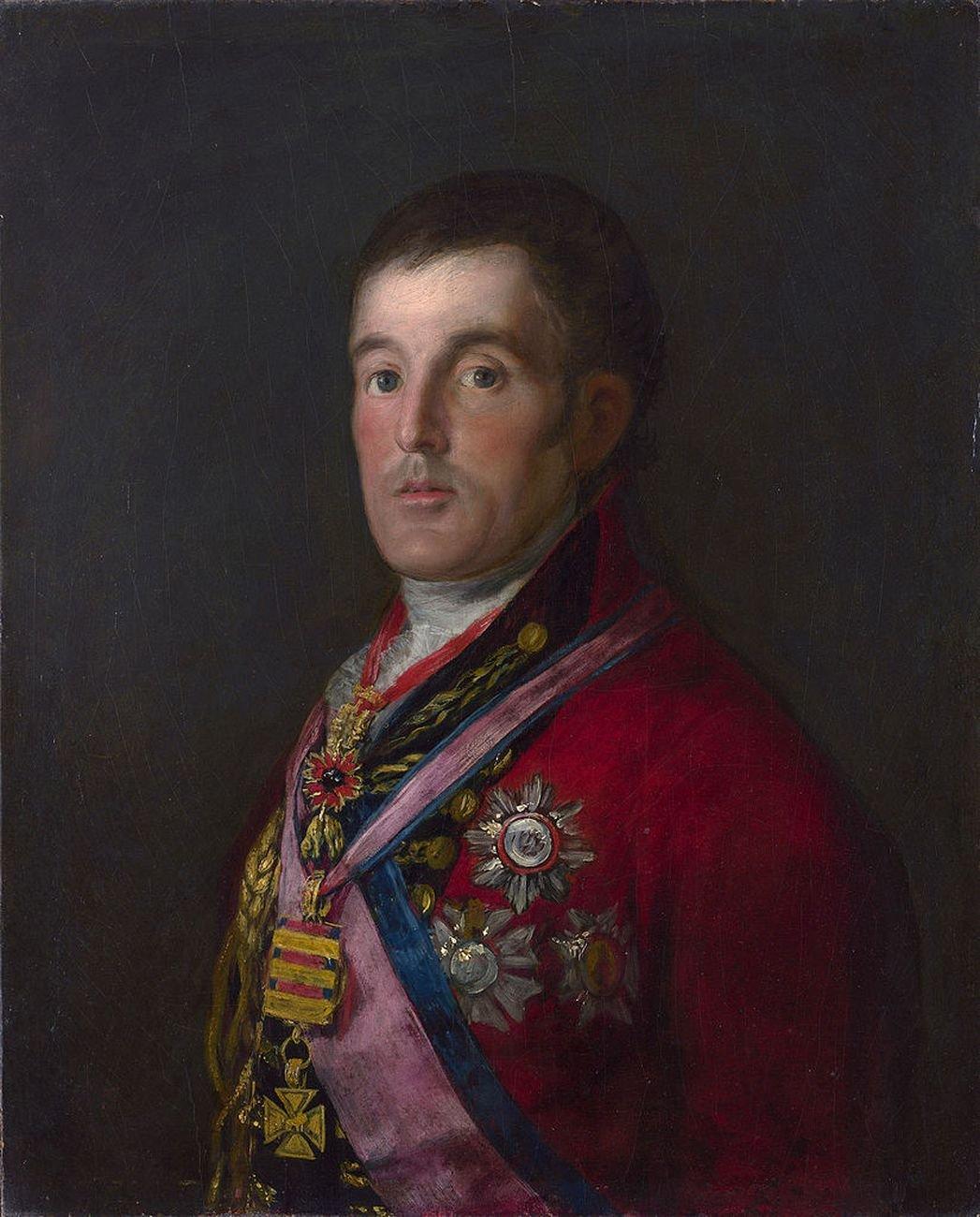 Francisco de Goya, Ritratto del Duca di Wellington, 1812, olio su tavola, cm 64,3x54,2. National Gallery, Londra