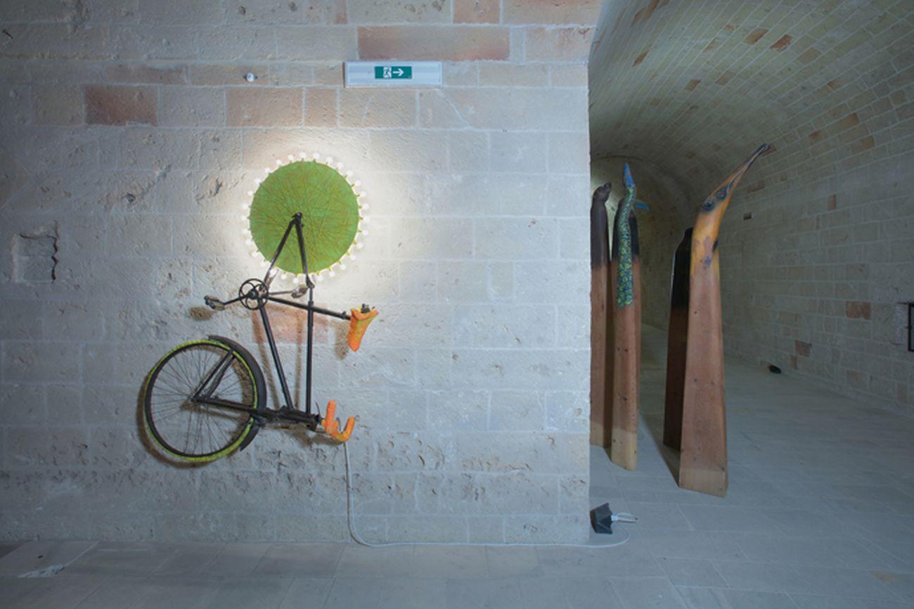 Franco Dellerba. La Fuga. Exhibition view at Castello di Copertino, 2021. Photo Beppe Gernone. Courtesy l'artista