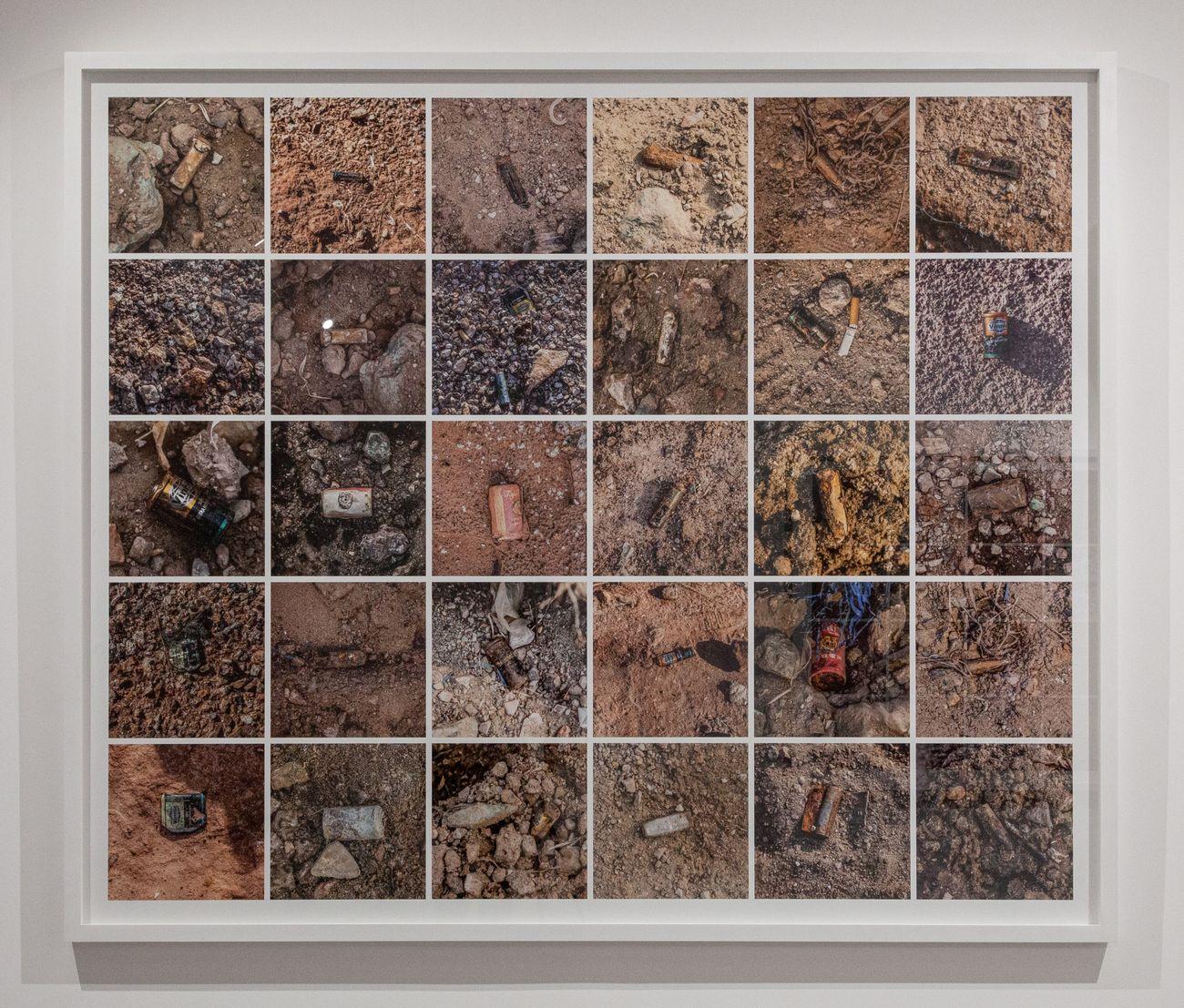 Georges Senga, Le Vide III, 2019, stampa a getto d'inchiostro su carta, 126x126 cm. Photo credit Luca Corgnali. Courtesy ArtNoble Gallery
