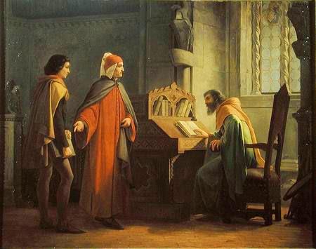 Giovanni Mochi, Dante Alighieri in atto di presentare Giotto a Guido da Polenta, 1855 ca. Gallerie degli Uffizi, Palazzo Pitti, Galleria d'Arte Moderna, Firenze