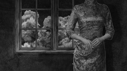 Hans Op de Beeck Night Time still 13 Animated Film Black and White Sound Full HD Video 19 minutes 20 seconds 2015