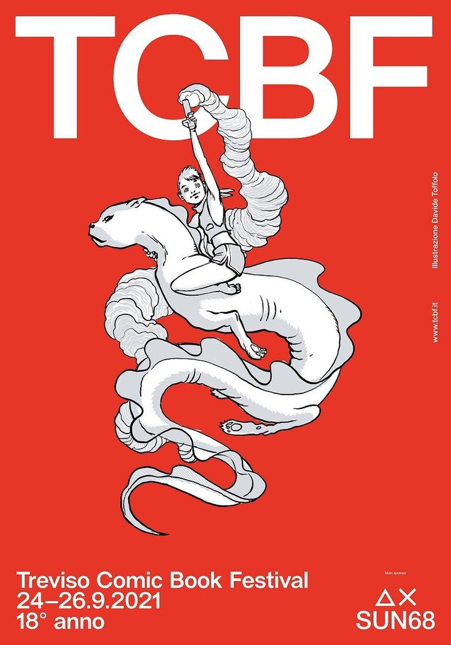 Il poster del Treviso Comic Book 2021 realizzato da Davide Toffolo