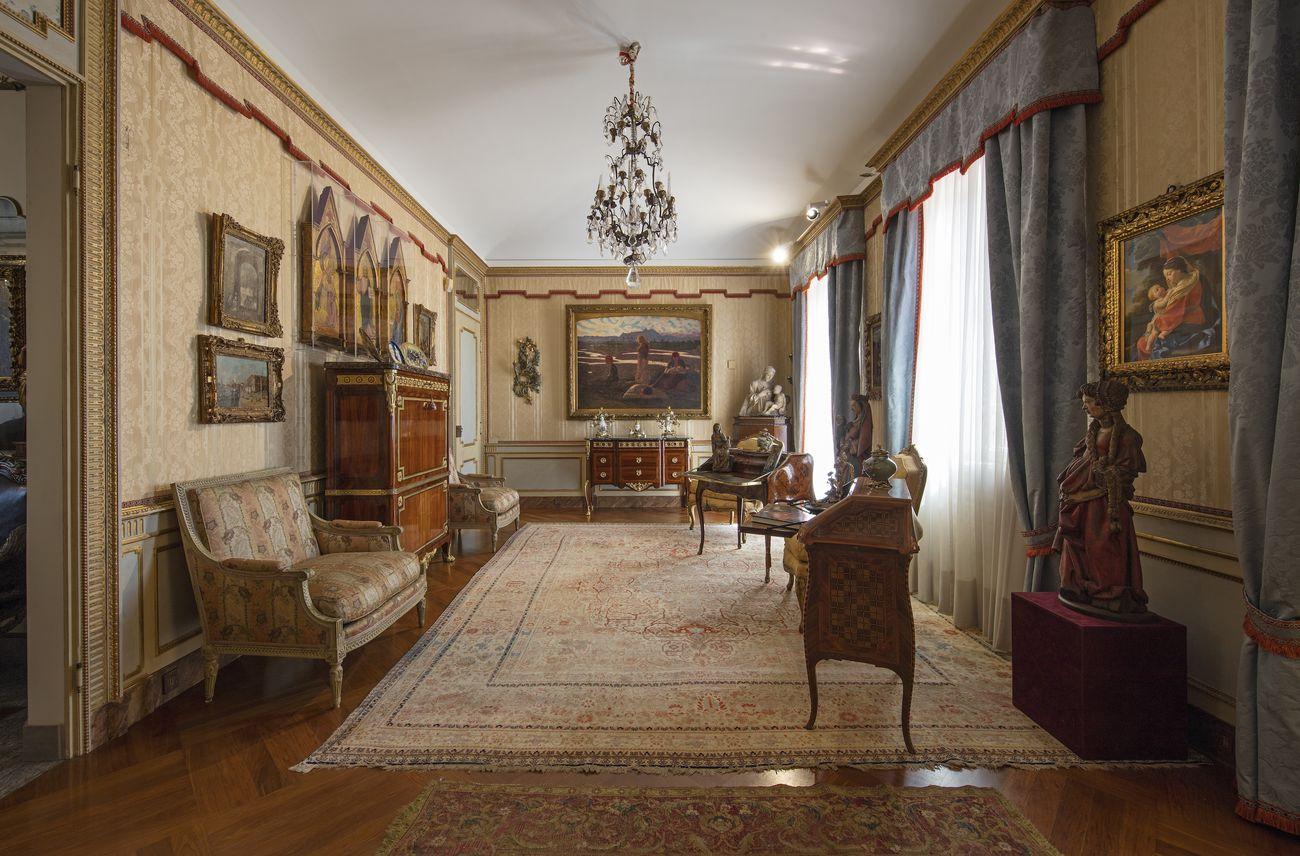 Il salone rettangolare, veduta d'installazione, Villa Cerruti, Rivoli, 2019. Photo Antonio Maniscalco