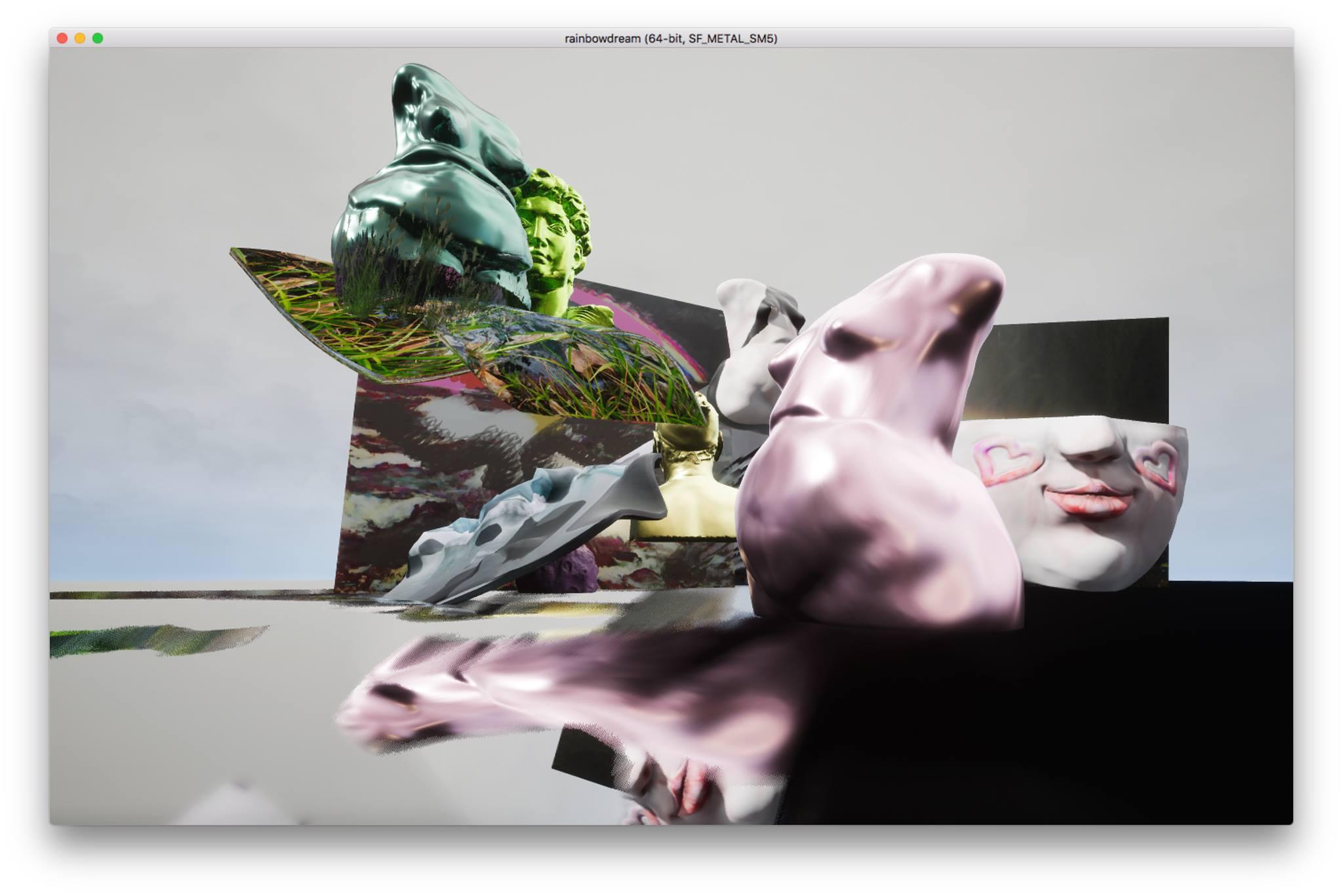 Kamilia Kard, Rainbowdream, ambiente navigabile, applicazione, 2017