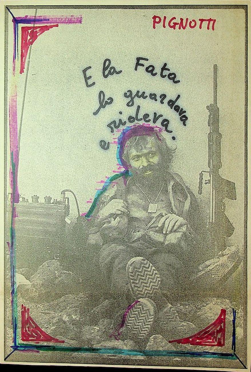Lamberto Pignotti, dalla serie Quadretti 1981, 1981