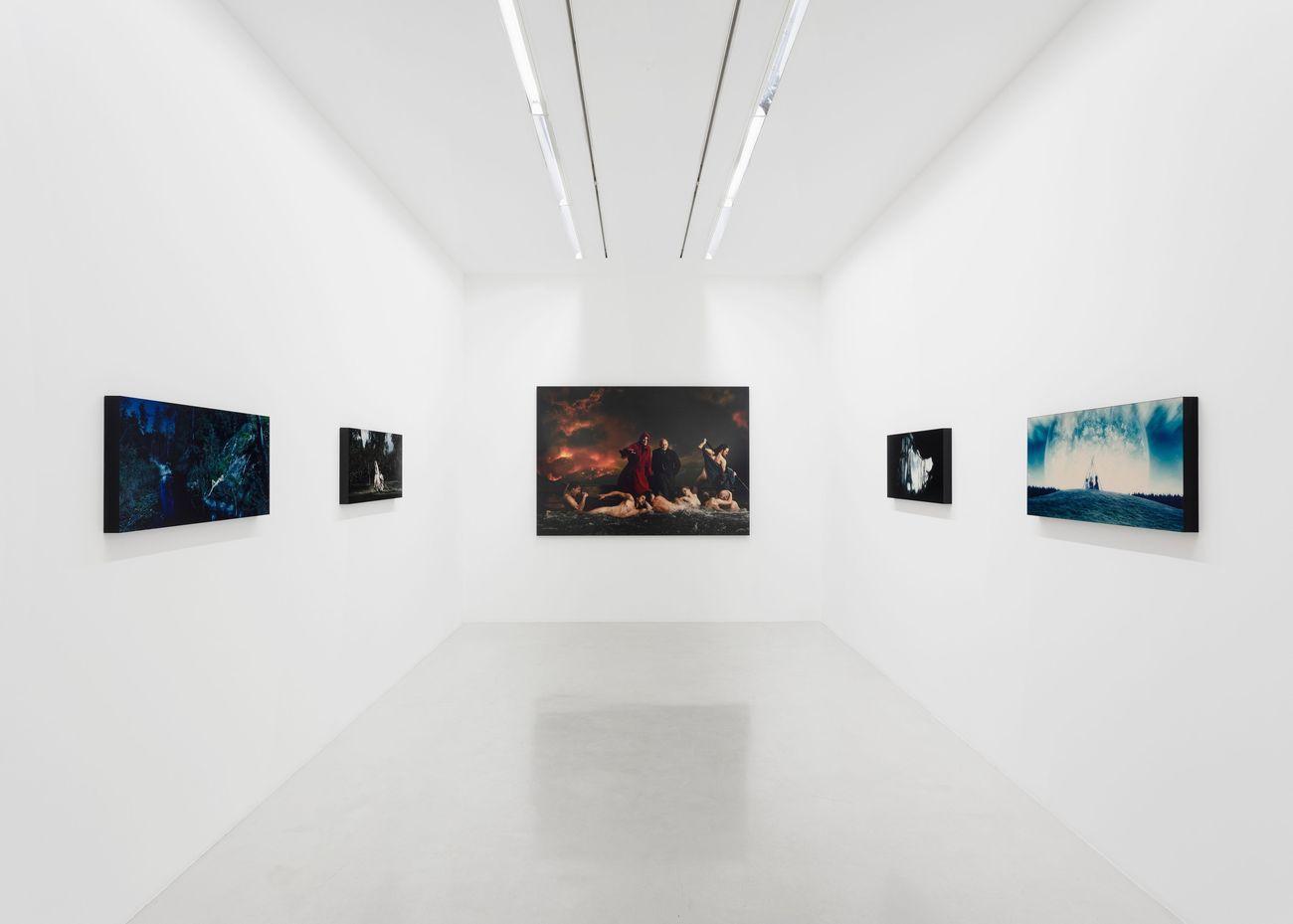 Lars von Trier. Exhibition view at Perrotin, Parigi 2021