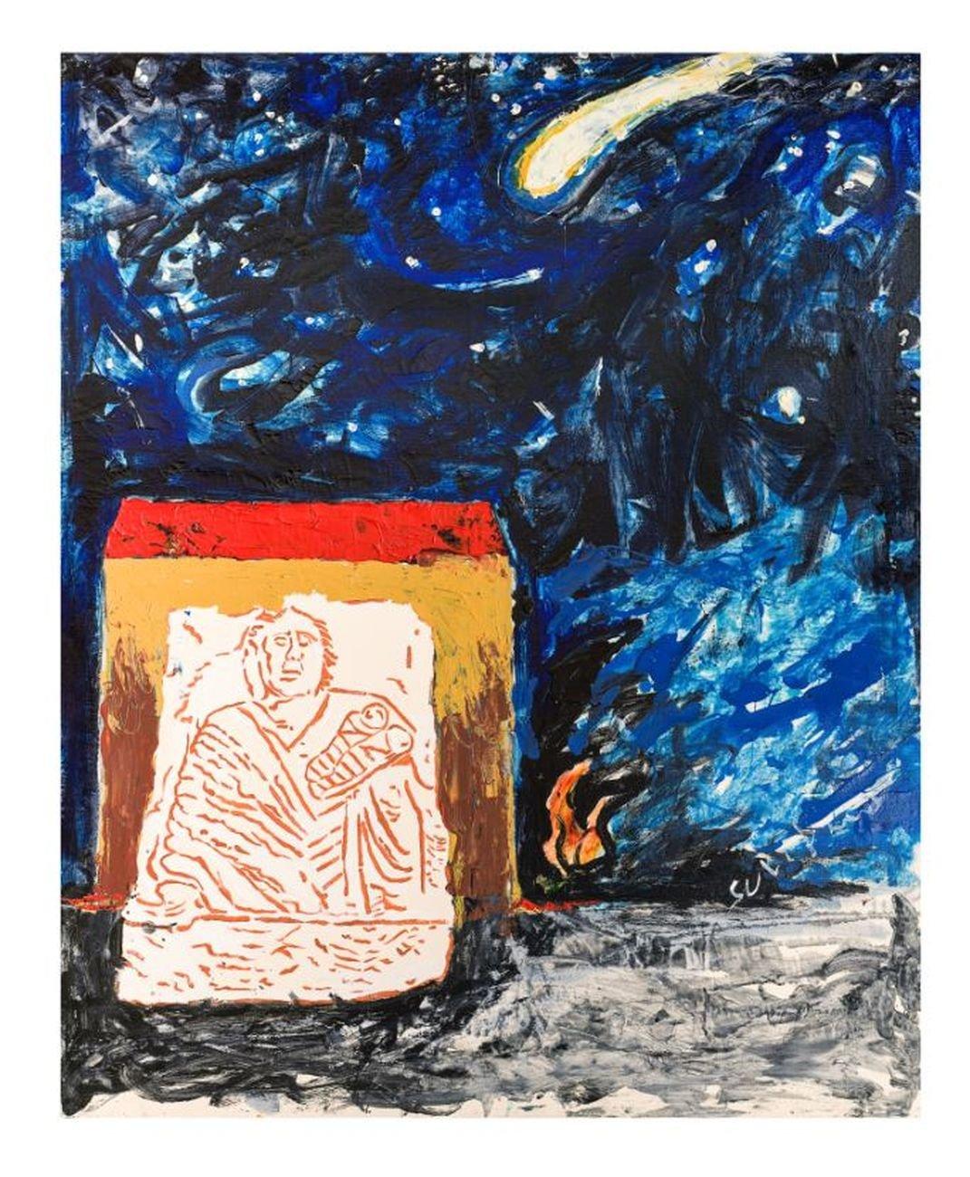Mario Schifano, Mater Matuta 1, 1995 96, smalto e acrilico su tela