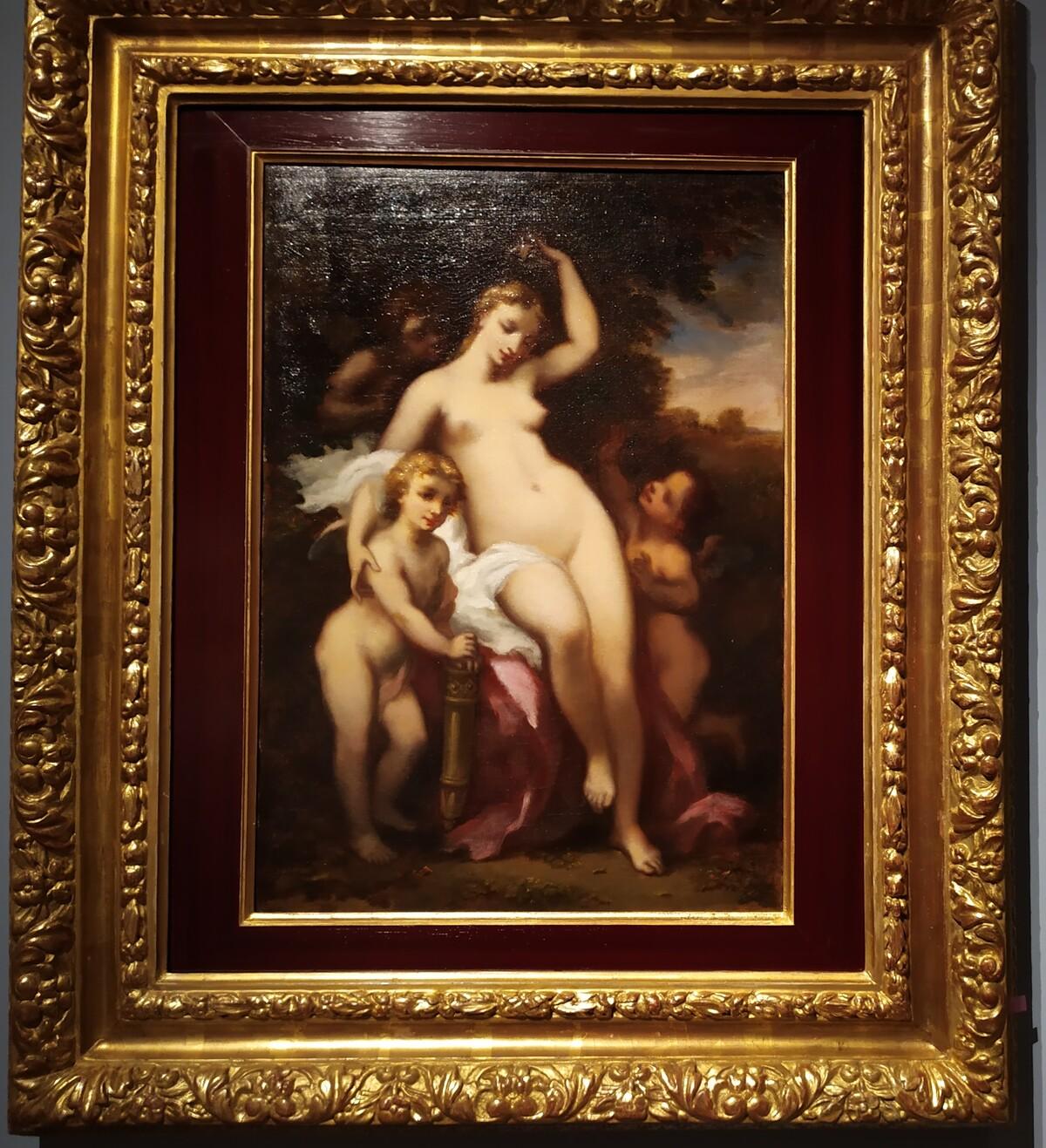 Narcisse Virgile Diaz De La Pena, L'Innocence tentèe par trois Amours, 1867