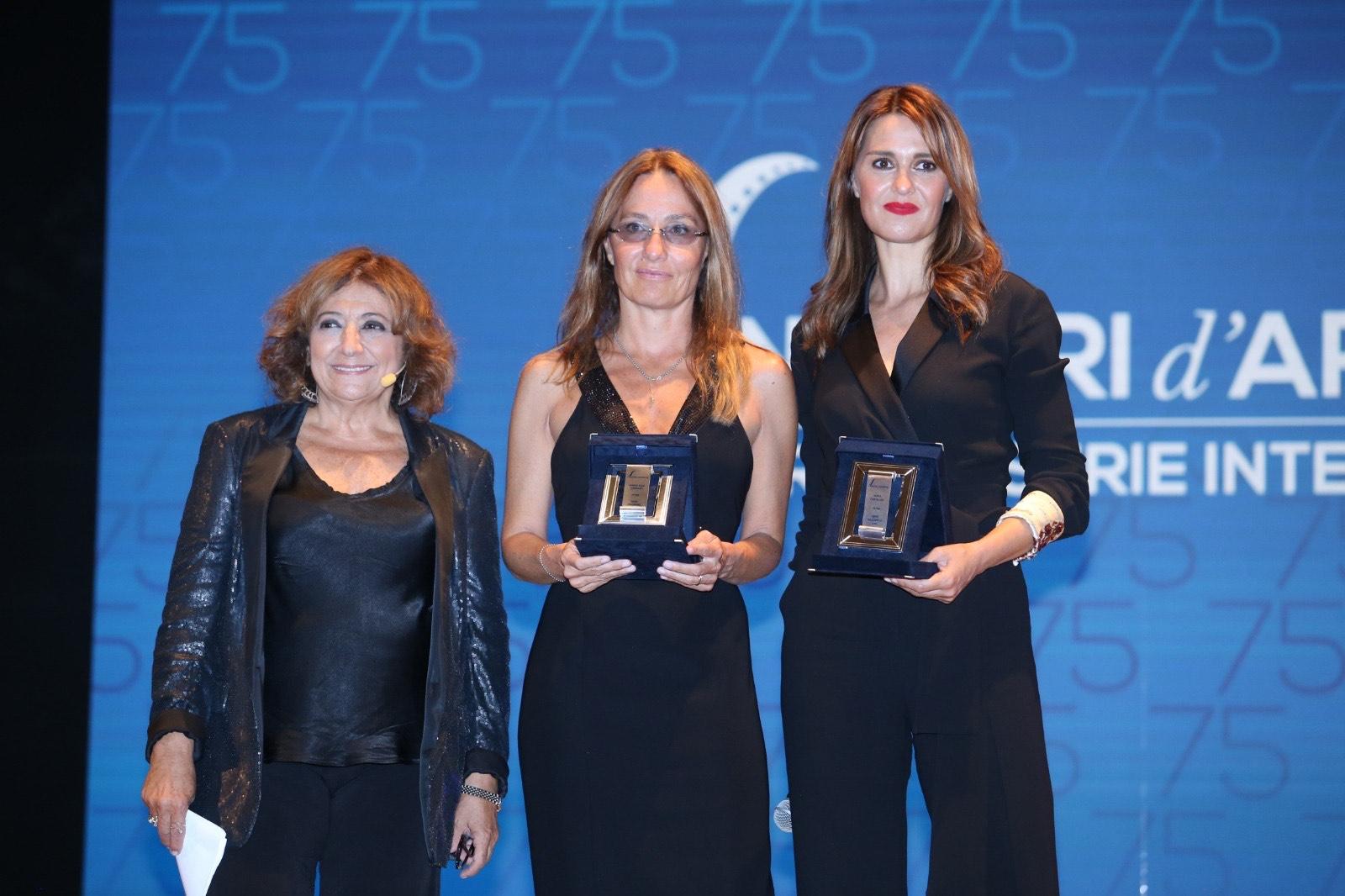 Nastri d'Argento Grandi Serie, foto Laura Delli Colli, Mariasole Tognazzi e Paola Cortellesi