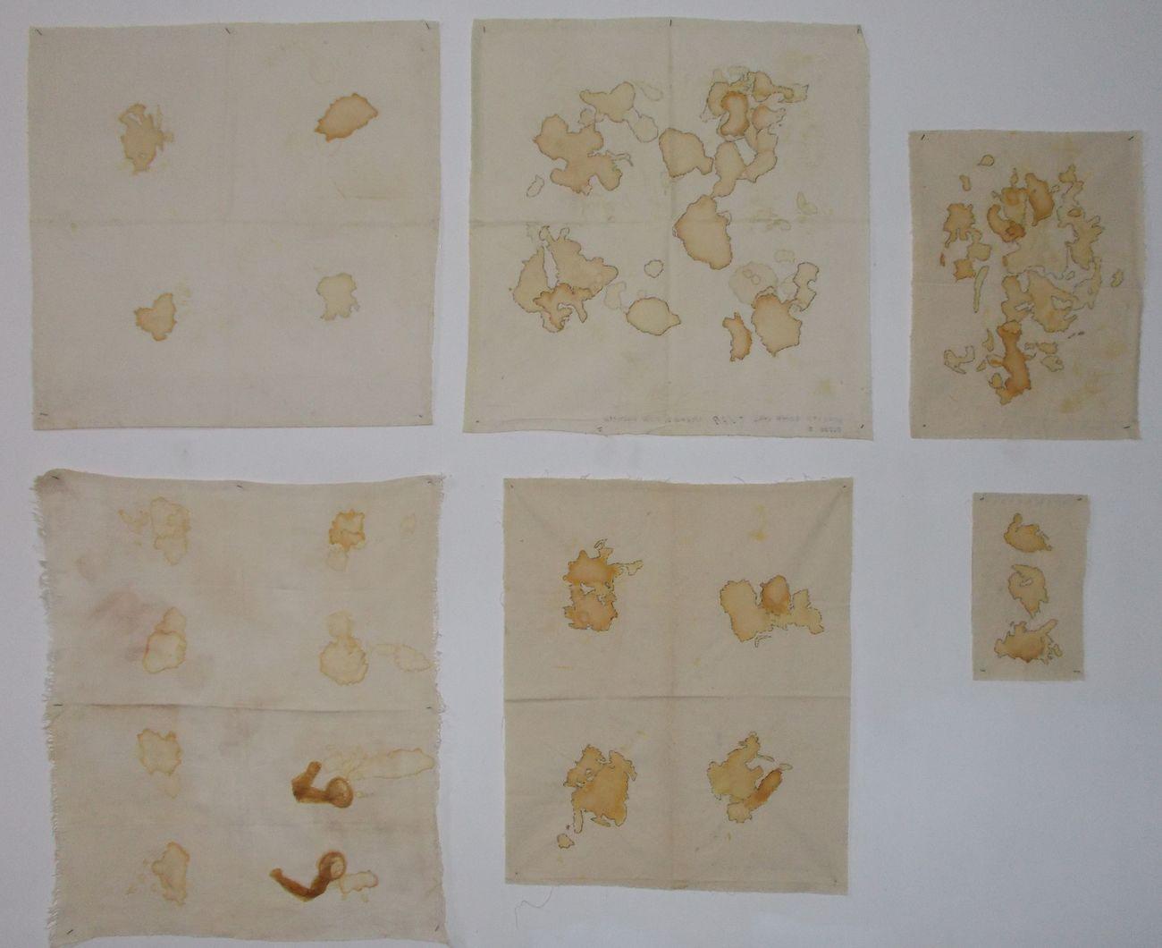 Pino Boresta, Sperma su tessuto, 1995-96