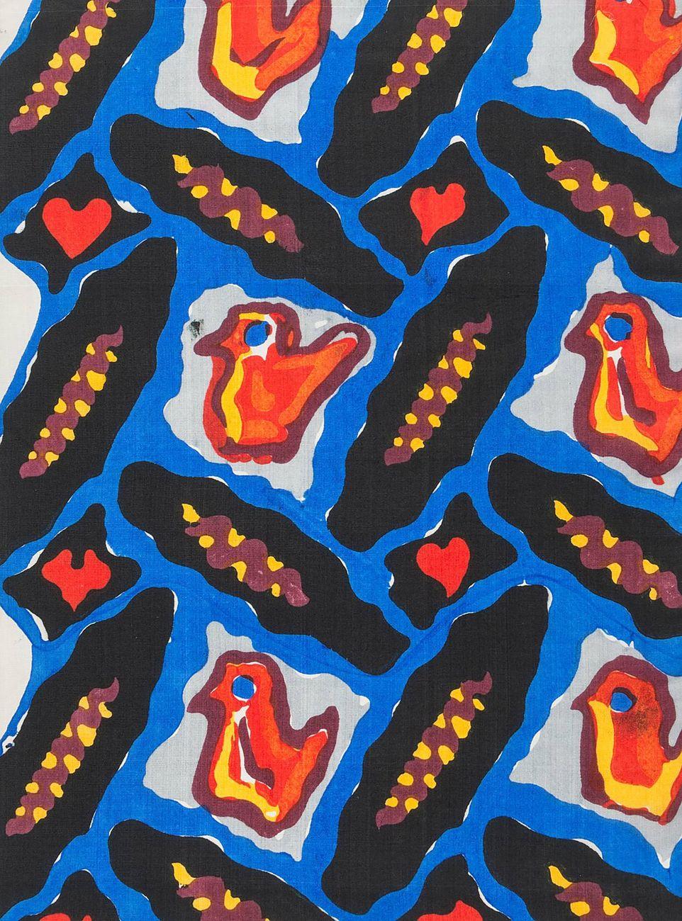 Rose Krenn, WW fabric pattern Backfisch [Teenage Girl], 1910 11 © MAK, Kristina Wissik