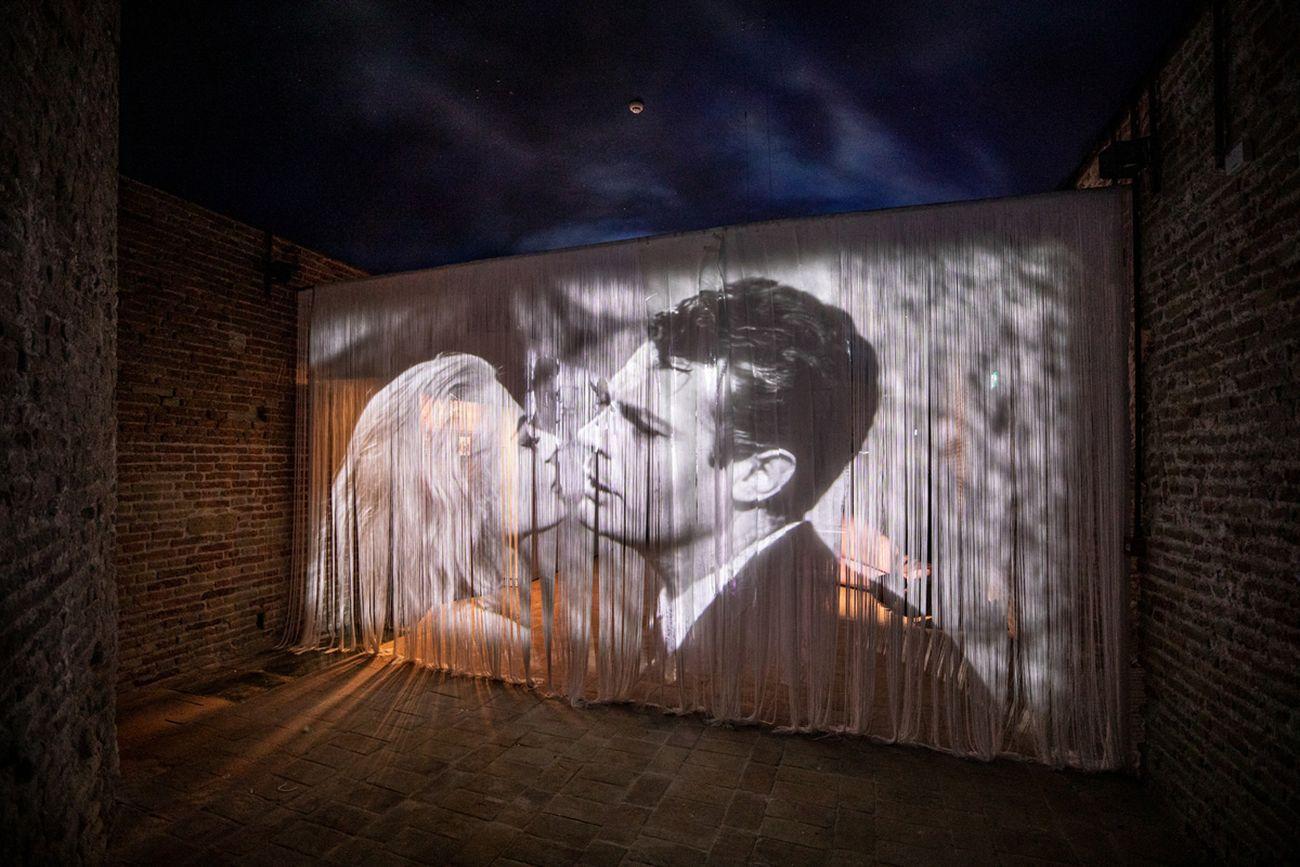 Sala dedicata a La dolce vita, Fellini Museum, Rimini. Photo Lorenzo Burlando