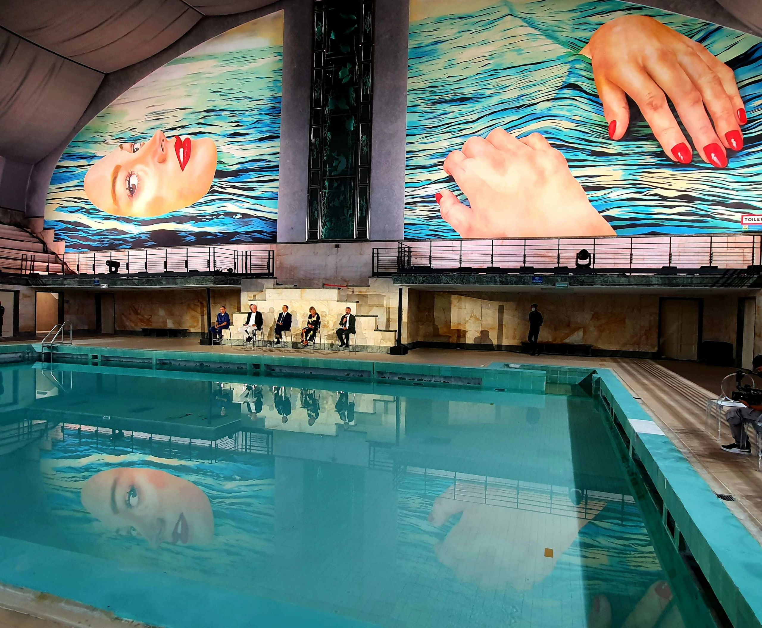 TOILETPAPER, Be water, Piscina Cozzi, Milano, 2021