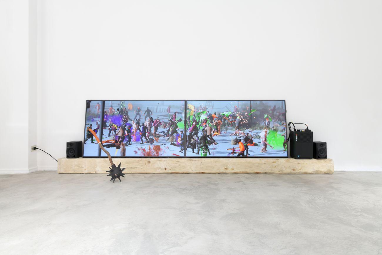Theo Triantafyllidis. Radicalization Pipeline. Exhibition view at NOVO Eduardo Secci, Milano 2021. Photo The Knack Studio. Courtesy l'artista e NOVO Eduardo Secci Milano