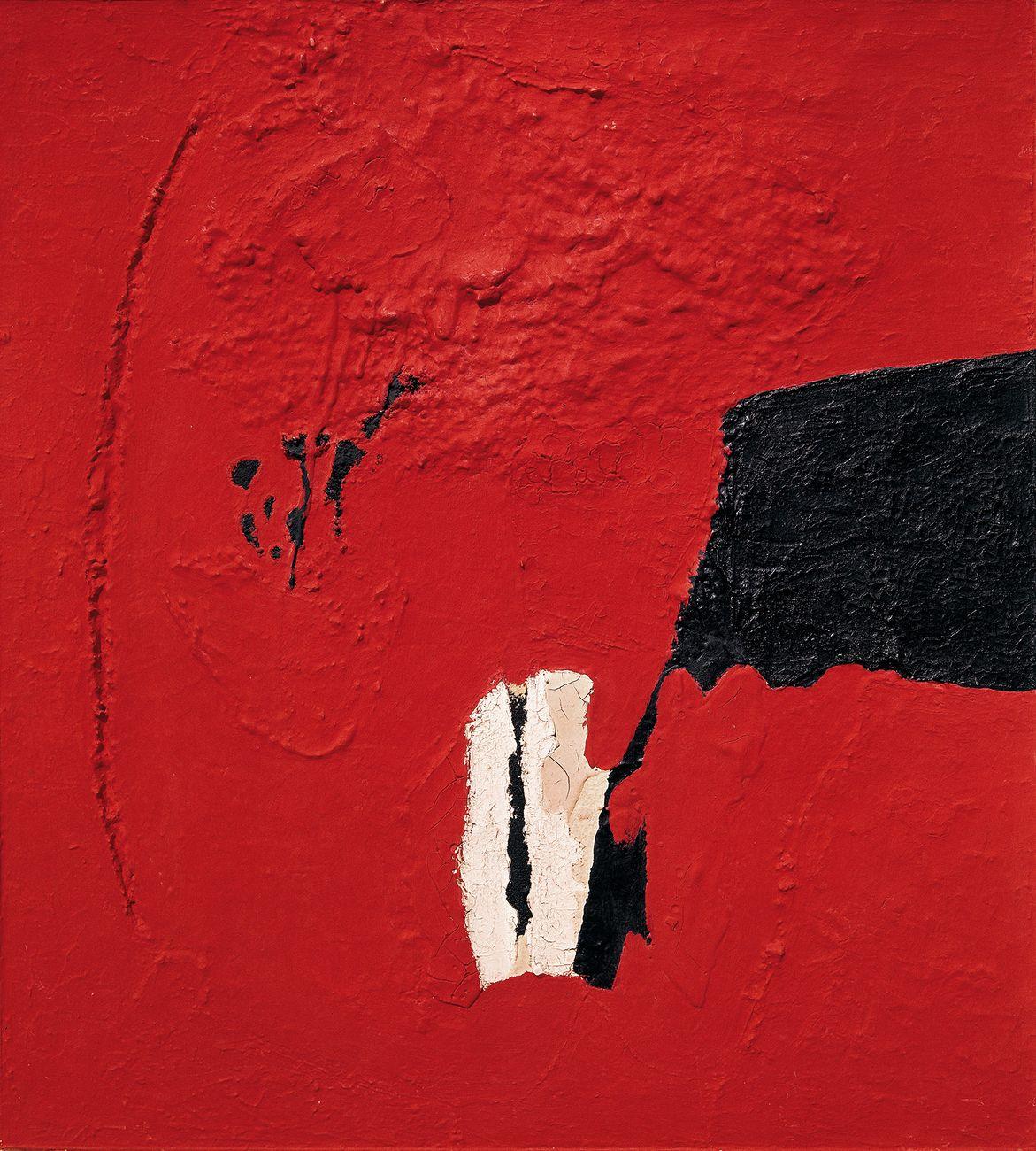 Alberto Burri, Rosso, 1952 © Fondazione Palazzo Albizzini Collezione Burri, Città di Castello © by SIAE 2021