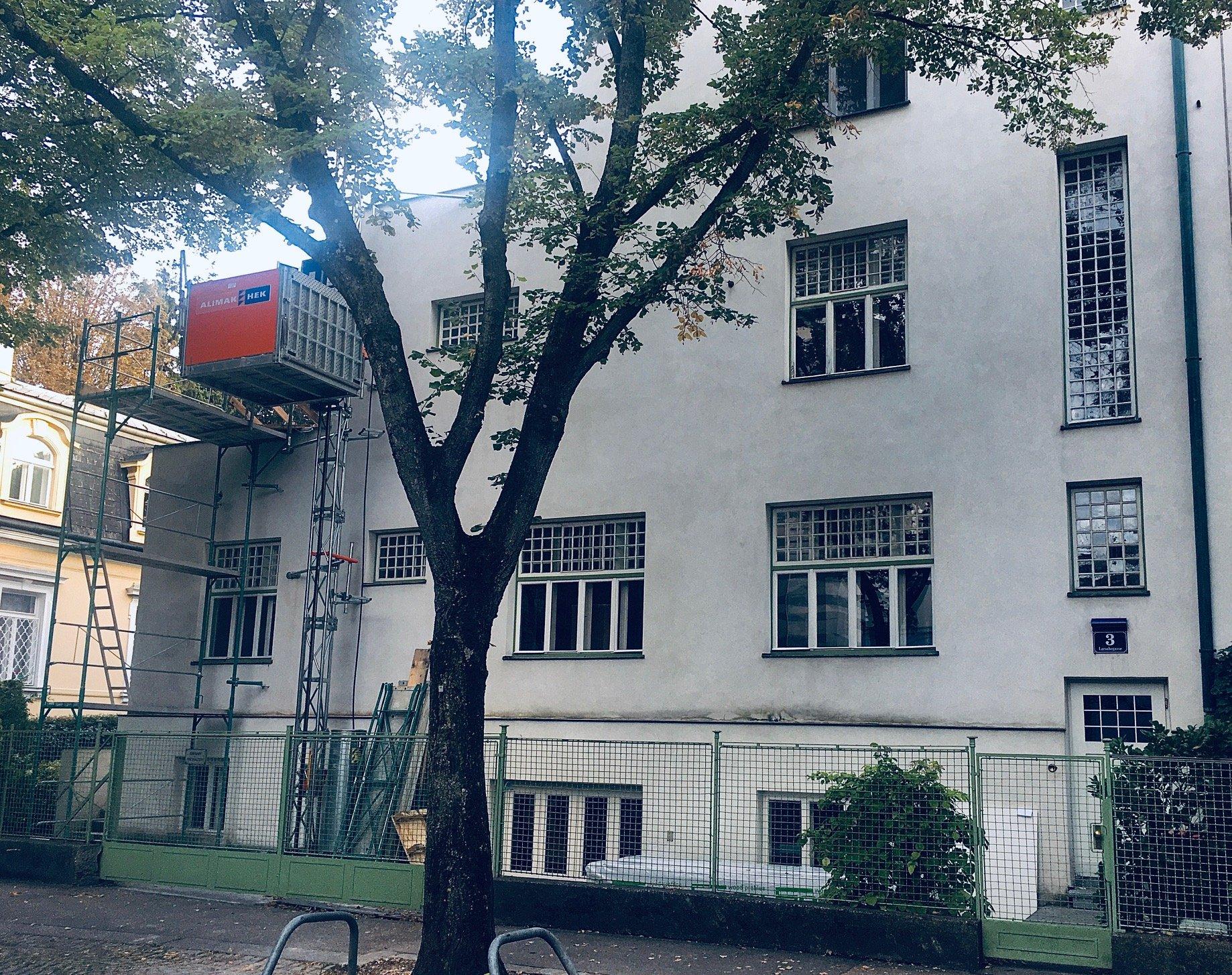 Casa Scheu (fronte strada), Larochegasse 3, Vienna