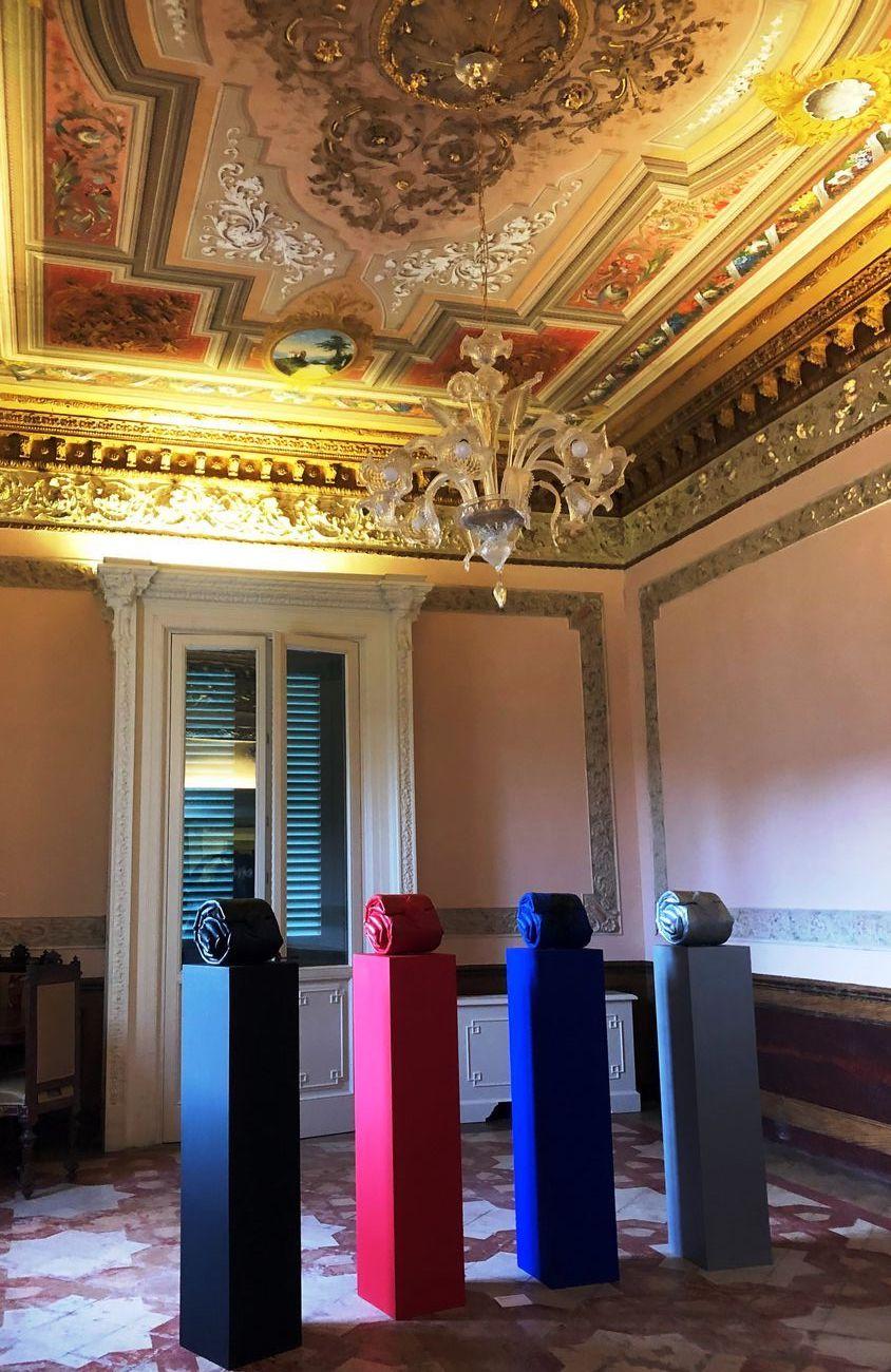 Cesare Berlingeri, Barocco nero, rosso, blu e argento, 2016